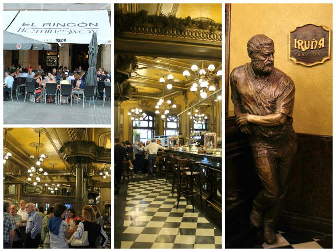 Café Iruña - El Rincón de Hemingway, Pamplona - Basque Country (Spain)