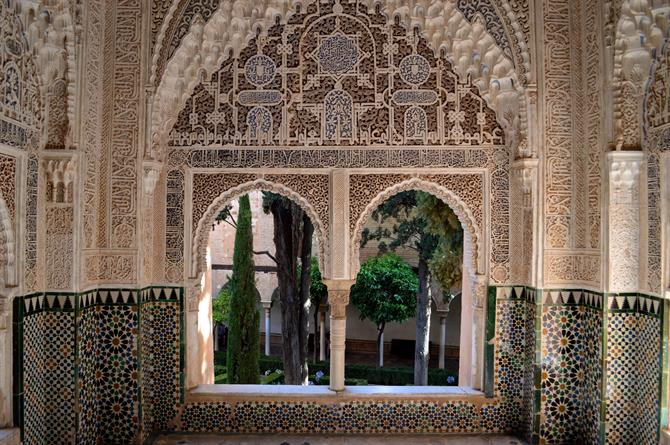 Architecture within the Alhambra