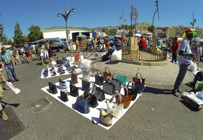 Purses at Saturday flea market, Fuengirola