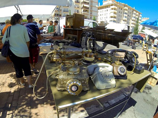 Antique Telephones, Fuengirola flea market