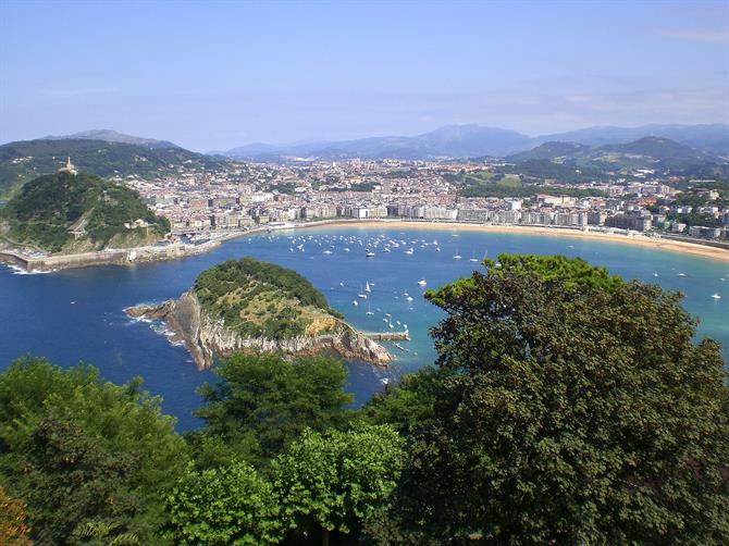 View of San Sebastian from Mount Igueldo