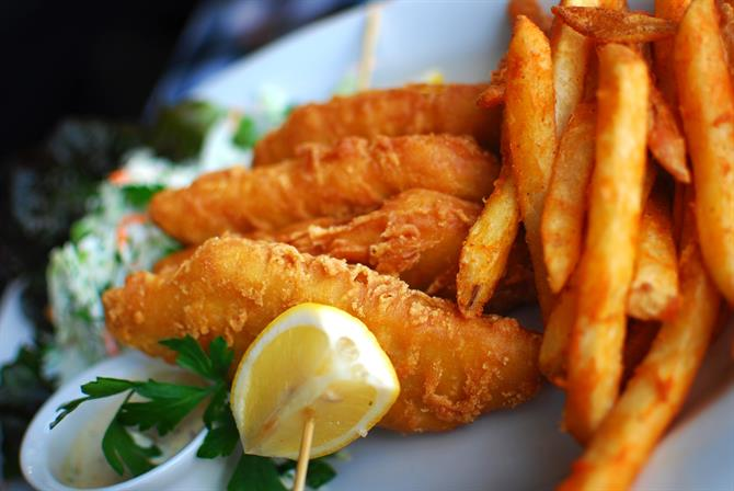 Fish and chips - Tapas à Barcelone (Espagne)