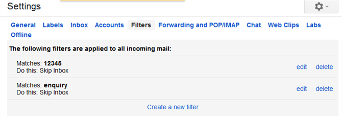 filters Gmail