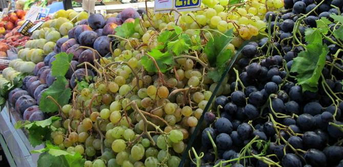 Fruit and vegetables in Denia market