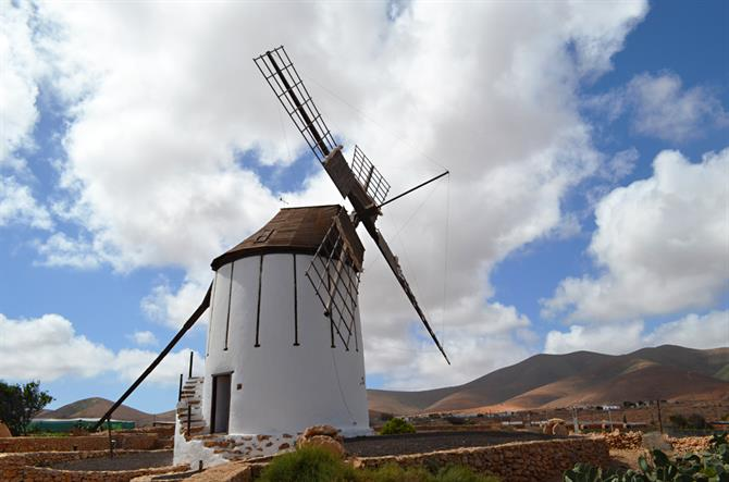 Traditional windmill, Fuerteventura, Canary Islands