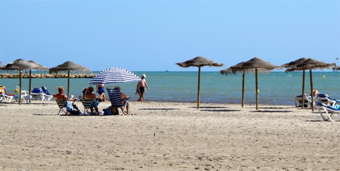 Levante beach at Santa Pola