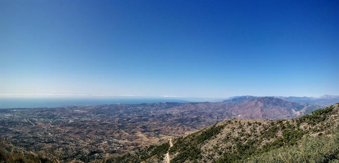 View of the Costa del Sol and Morocco