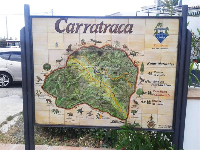 Map of Carratraca, Malaga