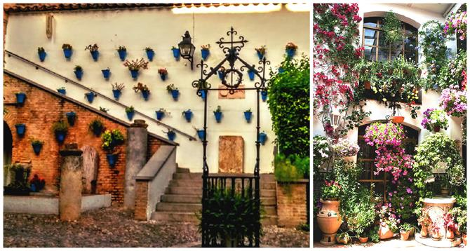 Typischer Patio in Cordoba, Andalusien