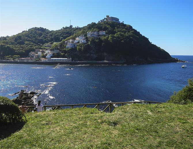 View from island of Santa Clara on Igueldo, San Sebastián