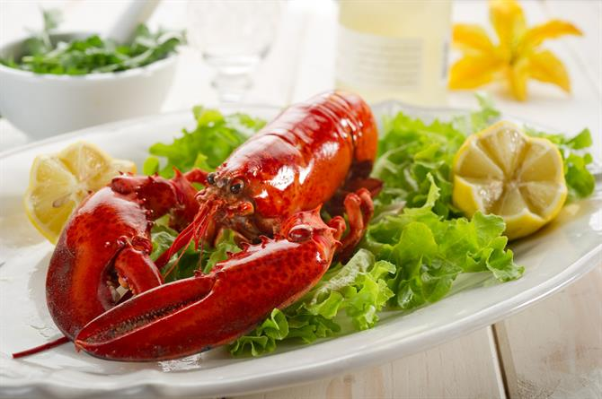 Seafood meal - lobster