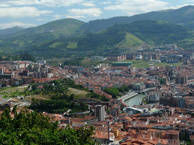 View of Bilbao from the Funicular de Artxanda lookout