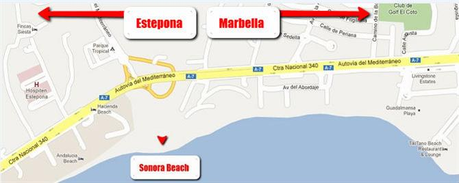 Sonora Beach Map