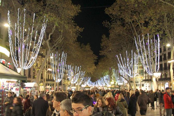 Las Ramblas lights