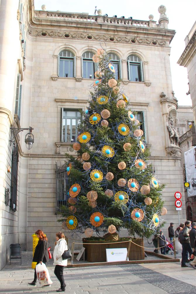Barcelona Christmas tree