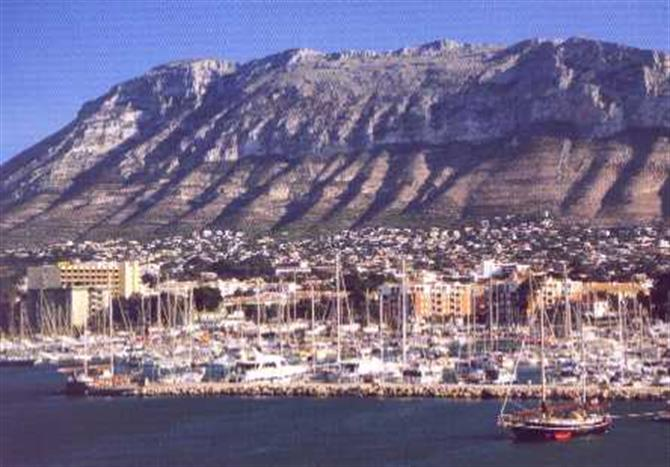 Viewof the Montgo from Denia marina