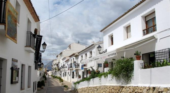 Picturesque Altea old town with its cobbled streets