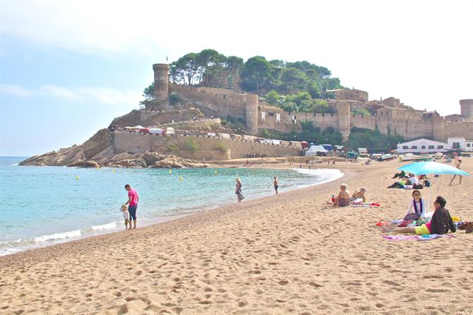 Platja Gran in Tossa de Mar
