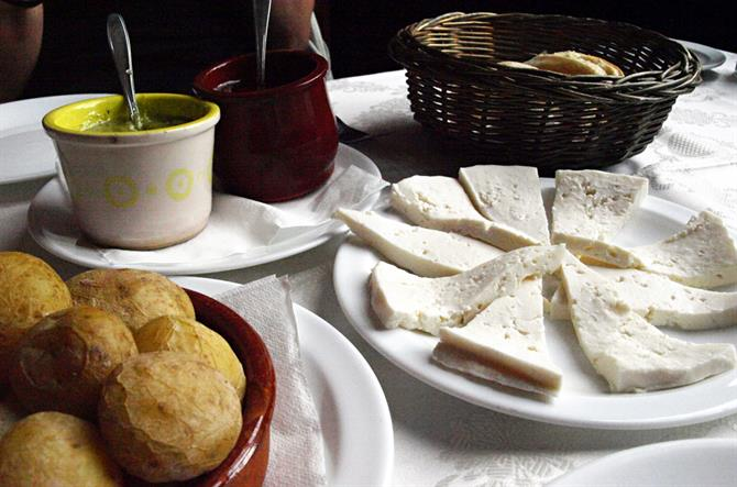 Cheese and mojos, Teguise, Lanzarote, Canary Islands