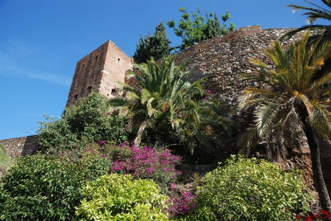 View of the Alcazaba in Malaga