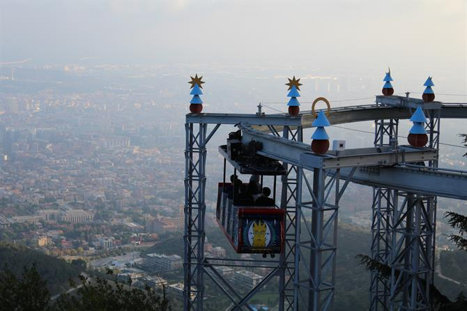 Views of Barcelona from the Tibidabo amusement park