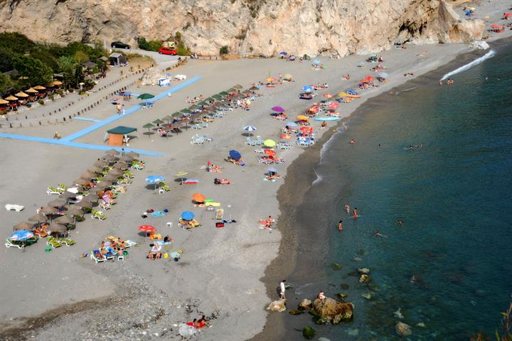 The Costa del Sol´s Best Nudist Beach: Playa de Cantarrijan