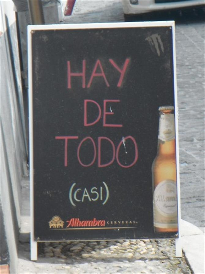 Bar Sign in Granada