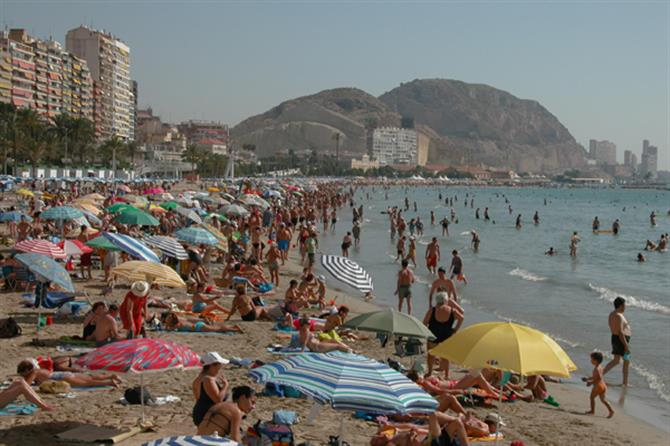 Playa de Levante in Benidorm