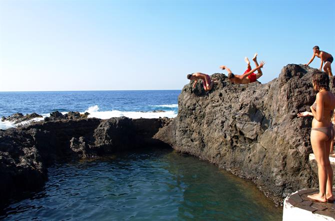 Lava rock pools, Garachico, Tenerife