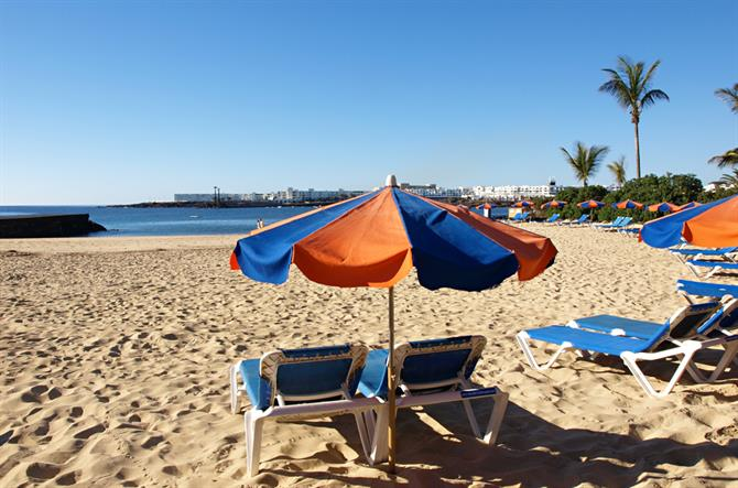 Beach, Costa Teguise, Lanzarote, Canary Islands