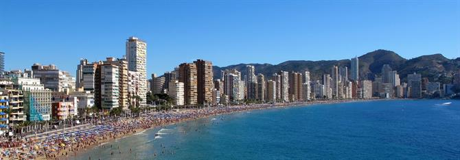 View to Levante beach, Benidorm