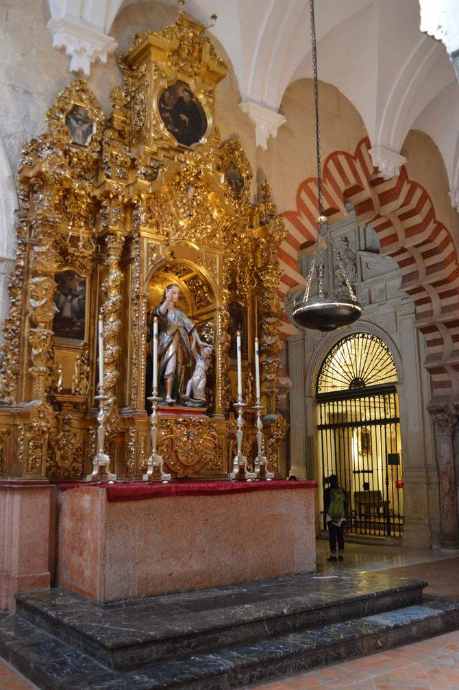 Catholic art in the Mezquita