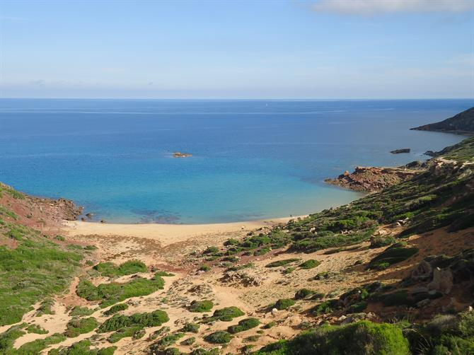 The virgin beaches of Menorca - Cala Pilar