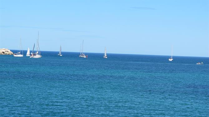 Boats sailing in the Med at Torrevieja