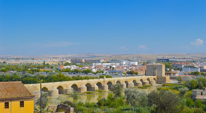View of the Roman Bridge from the Alcazar