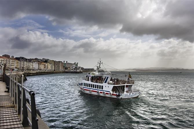 Santander harbour with ferry