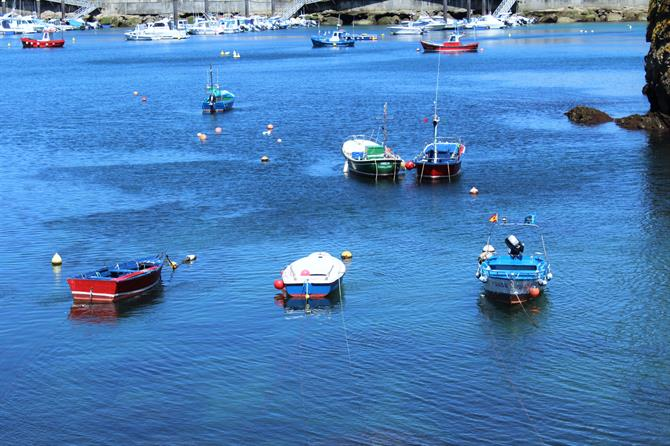 Boats in Cudillero