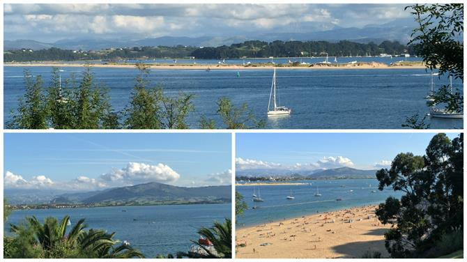 Sea and mountains in Santander, Cantabria (Spain)