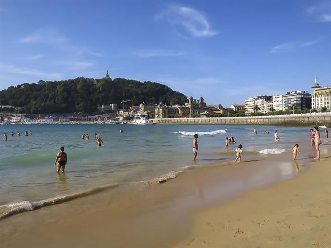 The Concha beach during summer