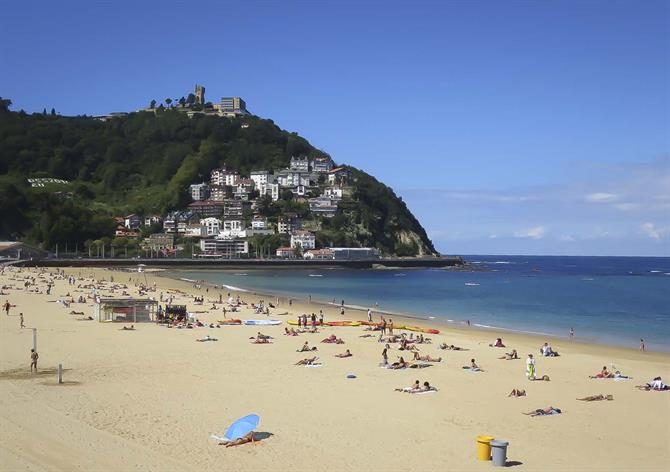The Ondarreta beach, San Sebastián