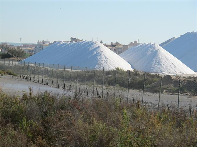 Torrevieja salt mountain