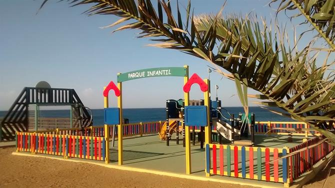 Spielplatz Playa Descargador, Mojacar Playa