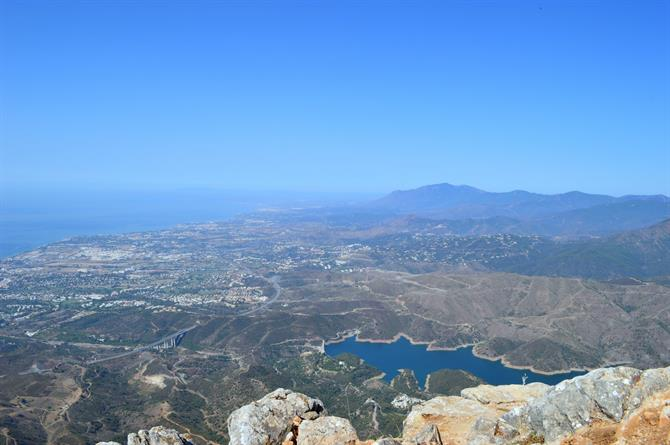 View from the top of La Concha Marbella
