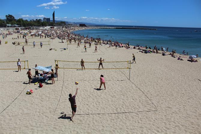 Beachvolley Barceloneta beach - Barcelona