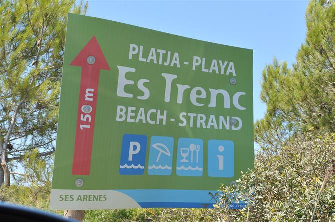 Directions to Es Trenc