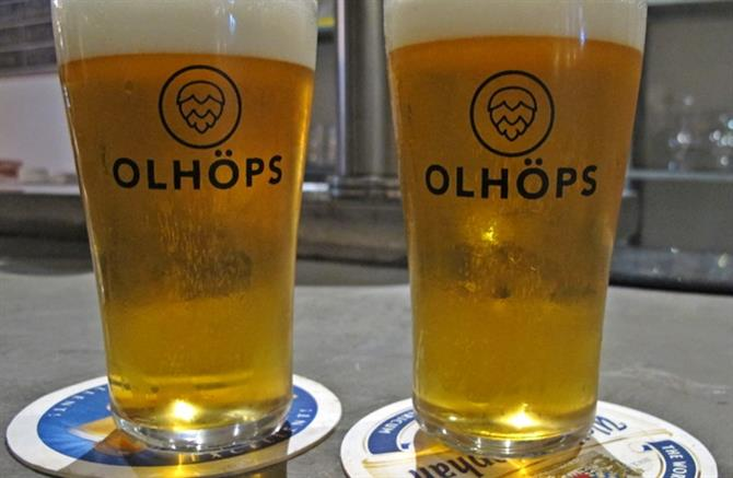 Beer at Olhops, Valencia