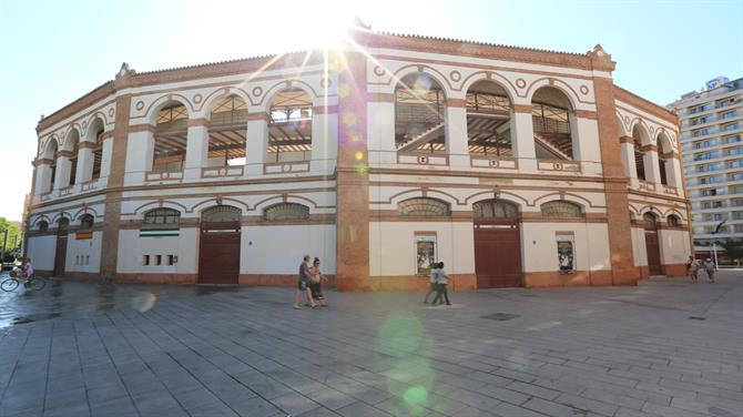 Cycling around the Plaza de Toros La Malagueta, Malaga