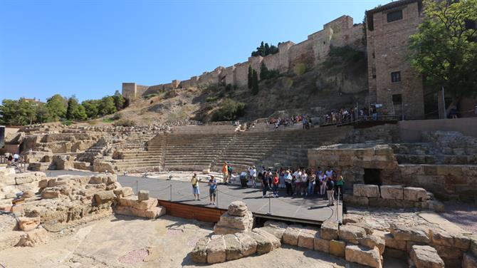Teatro Romano and Alcazaba in Malaga