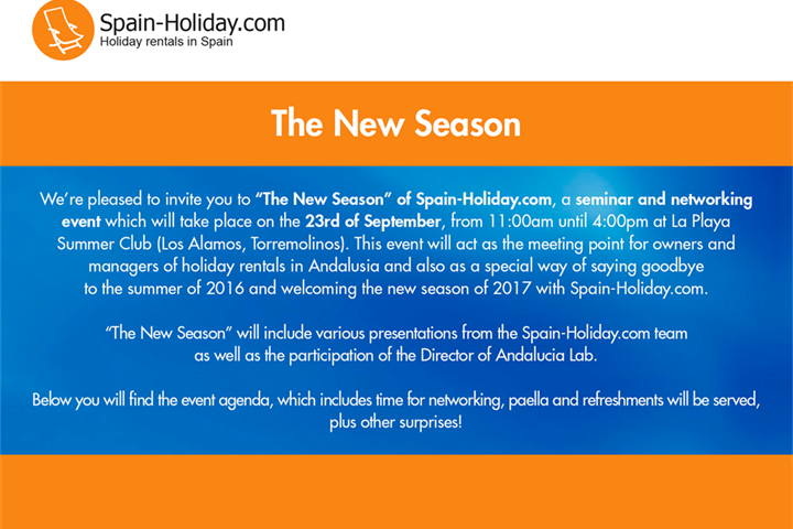 The New Season - Rental Property Industry event in Andalusia