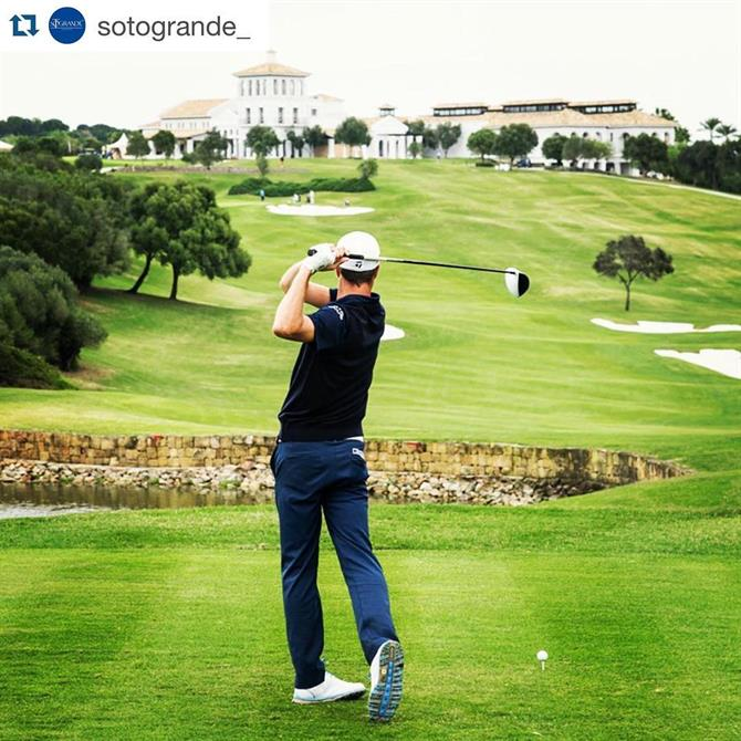 Golfing at the Real Club de Valderrama